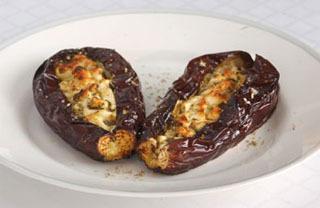 Grillad äggplanta med fetaost