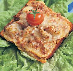 gratinerad köttfärs smörgås