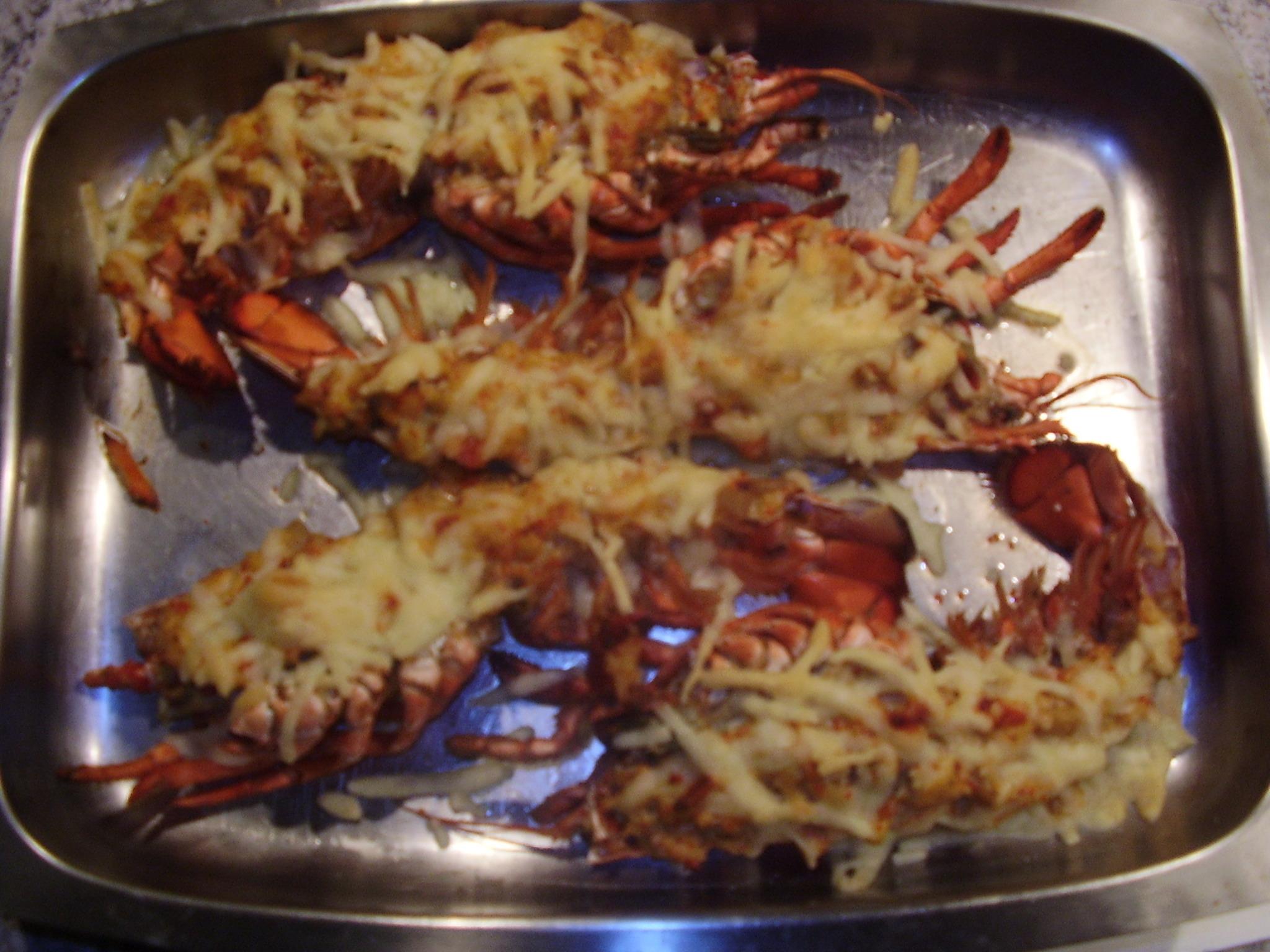 chili gratinerad hummer