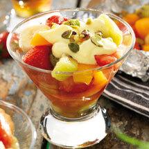 fruktpaket på grillen