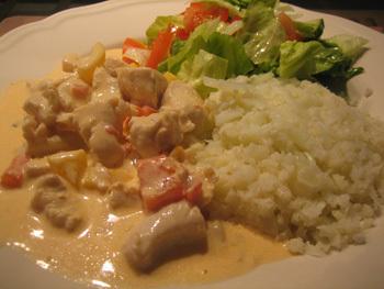 Kyckling i sås med paprika & chili (LCHF)