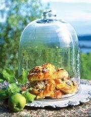 Päronbullar med ricotta, pinjenötter och choklad