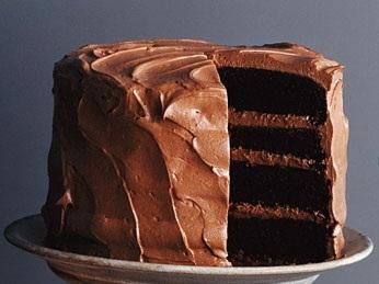chokladtårta två lager