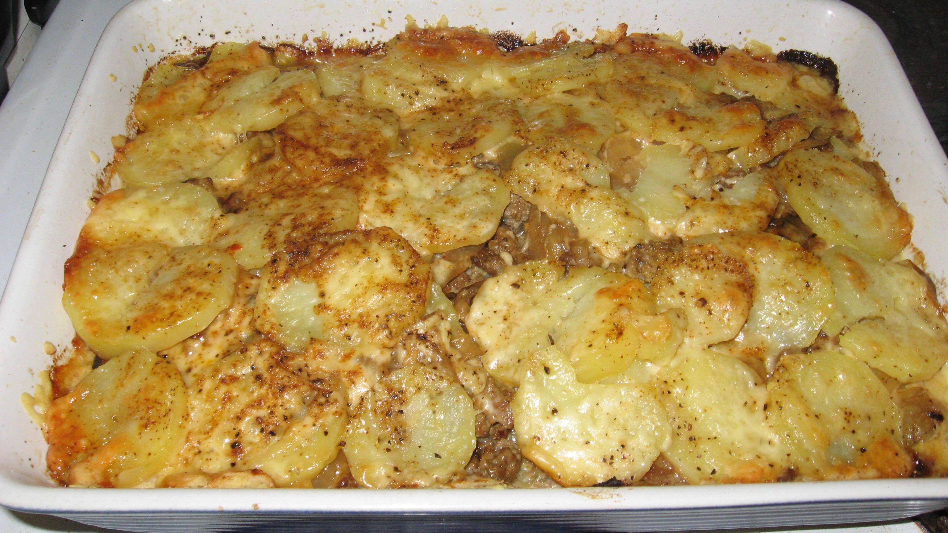 Potatis- och köttfärsgratäng à la Queenie