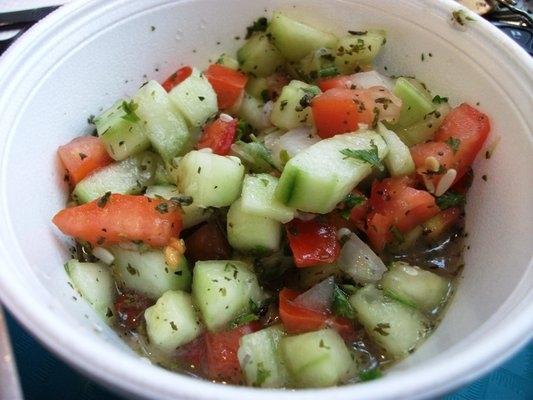 persisk sallad tomat gurka lök