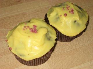 Choklad-Cupcakes med Cream Cheese-glasyr