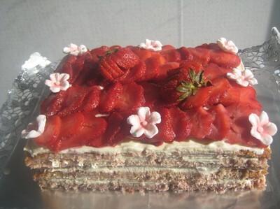 Strawberry cake..