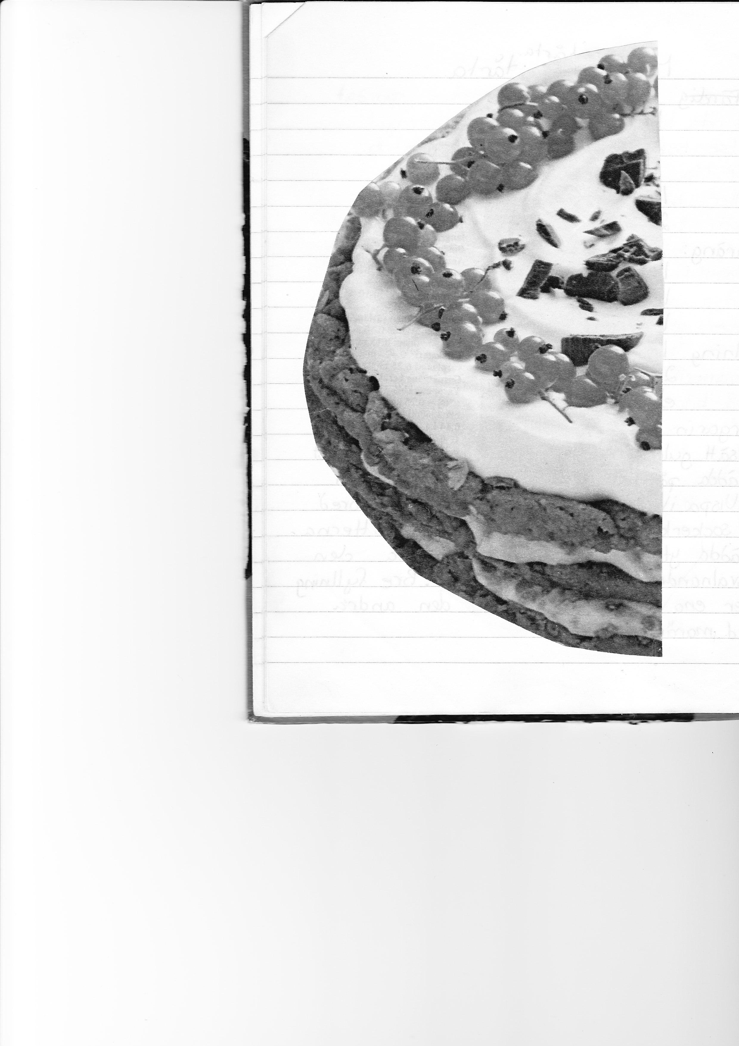 Chokladtårta med nougat och vnbär
