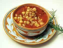 pastasoppa med ost