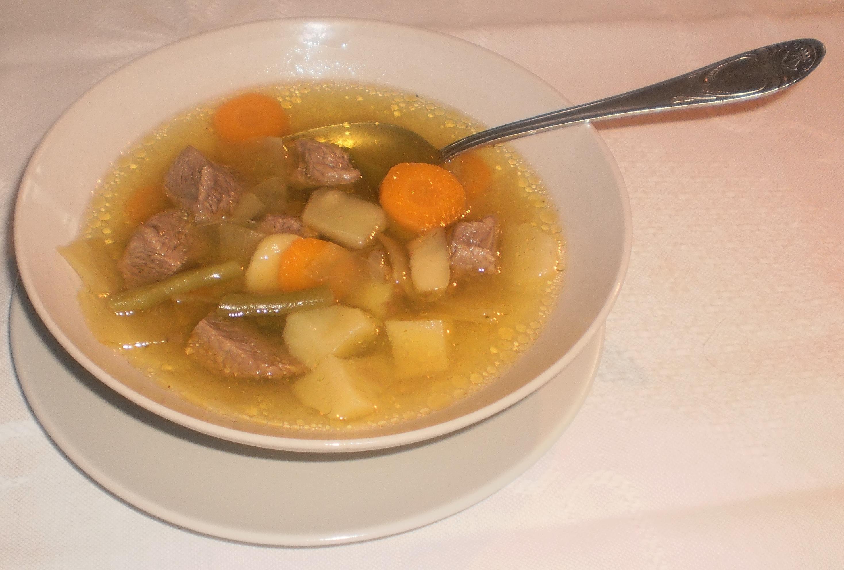 grönsakssoppa med kött
