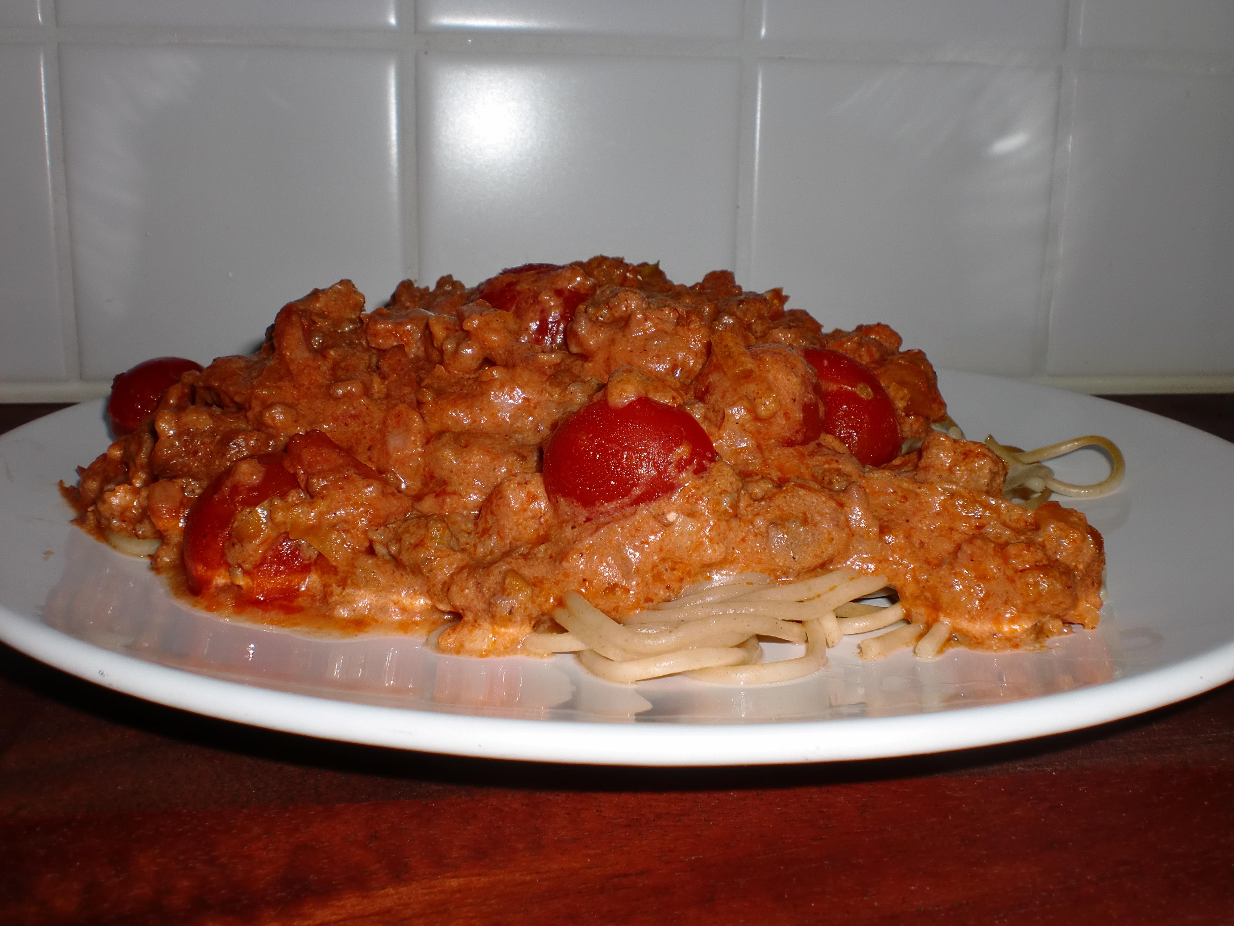Monicas köttfärssås deluxe