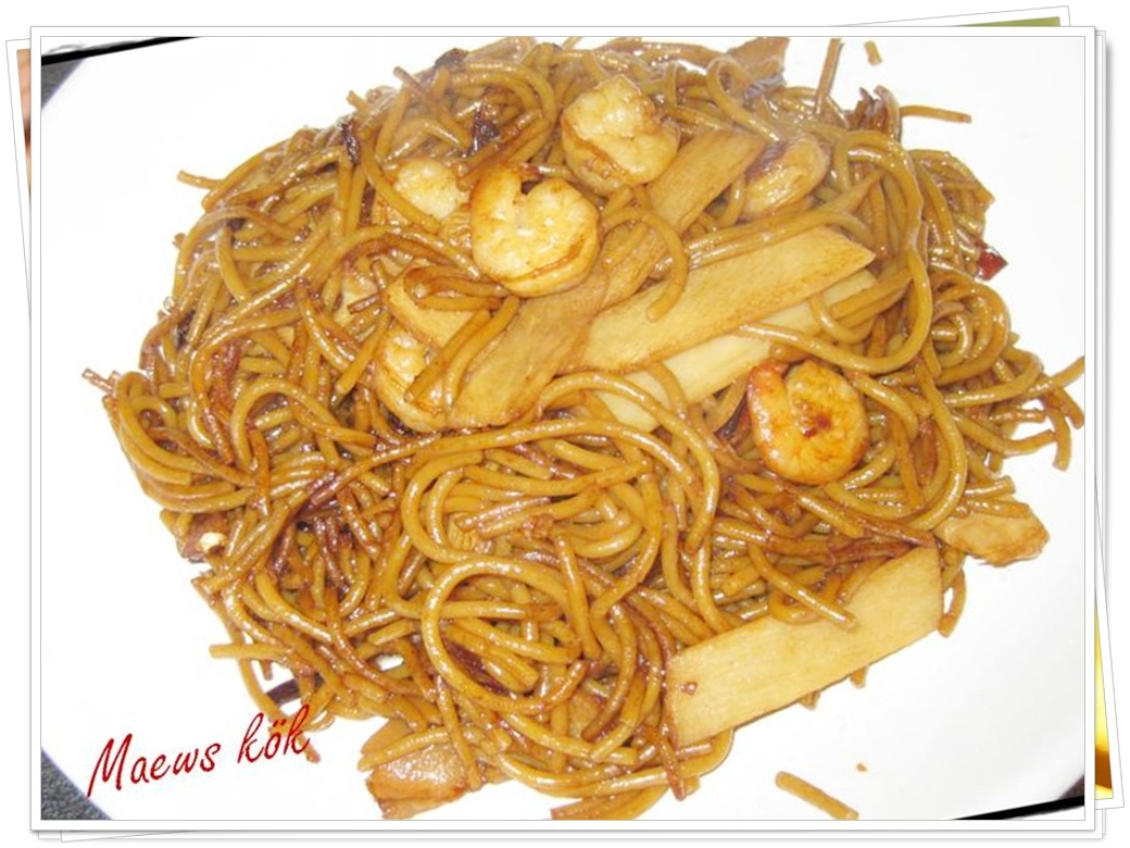 Spaghetti räkor..