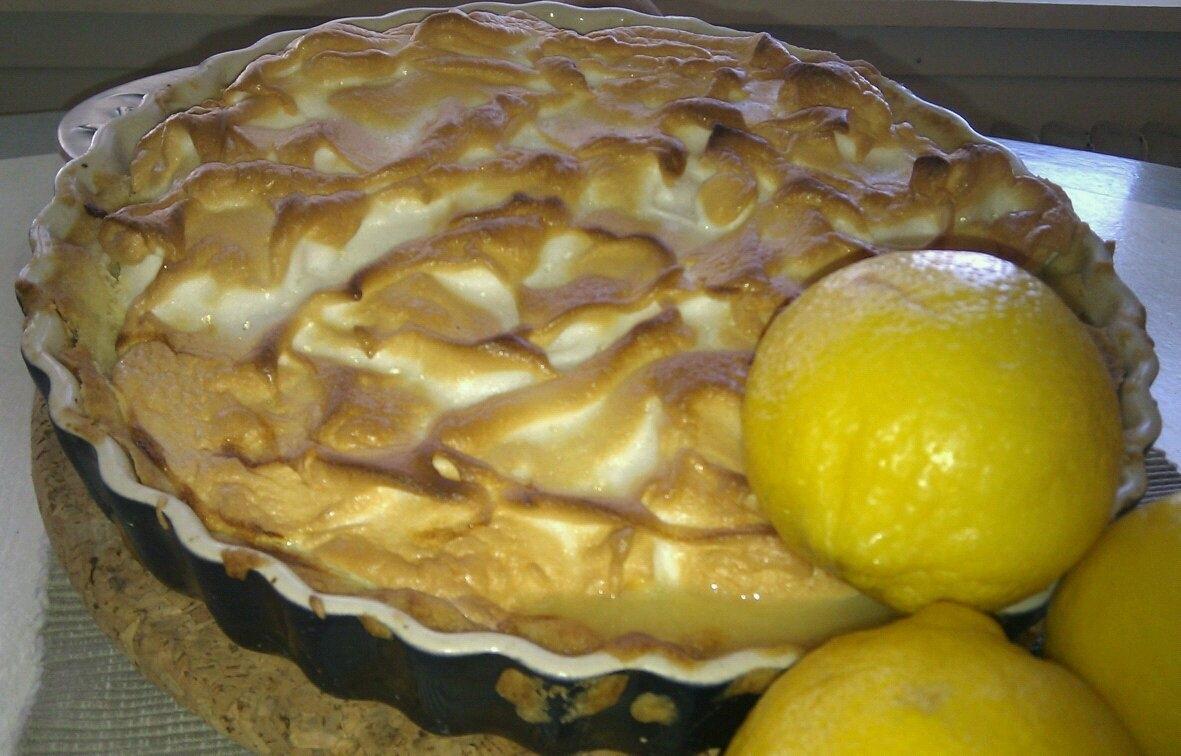 citron paj kondenserad mjölk