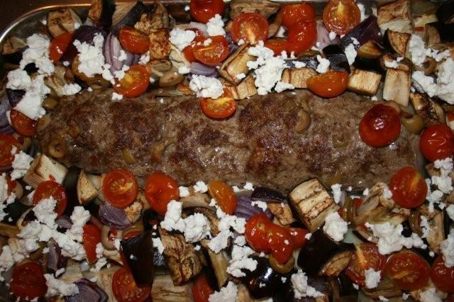 franskbröd i ugn med köttfärs