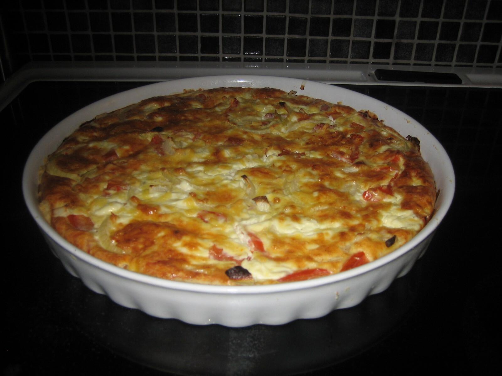 Smarrig ost- & skinkpaj