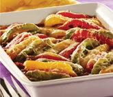 Paprika- och köttfärsgratäng