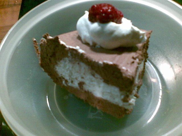 choklad hallon mousse tårta