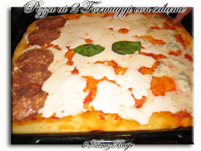 Pizza ai 2 Formaggi och salami