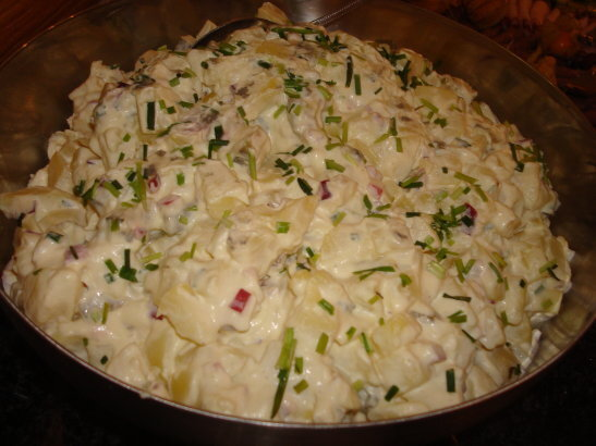 potatissallad med caesardressing
