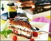 Chokladtårta med hallon