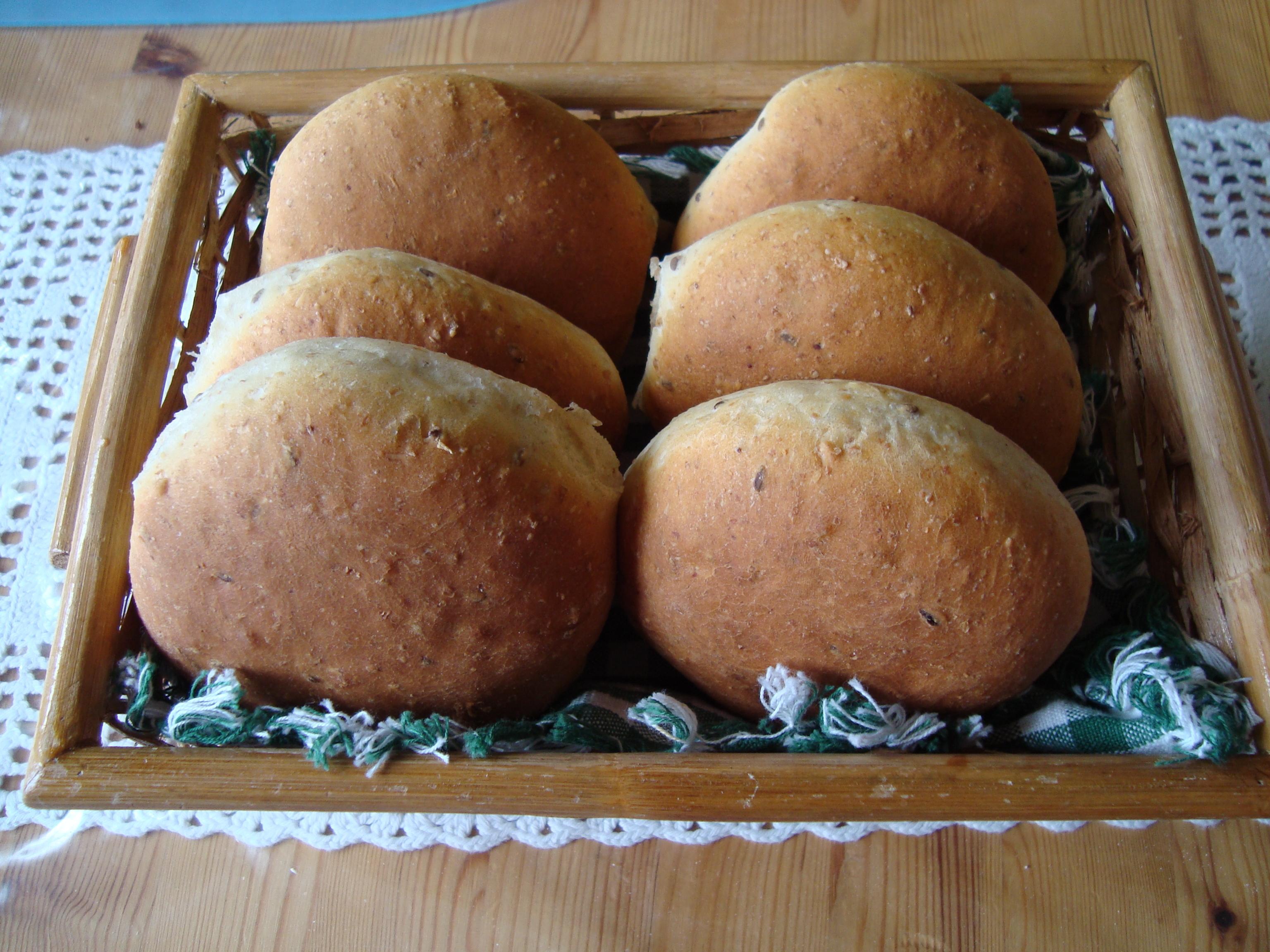 nyttiga hamburgerbröd utan jäst