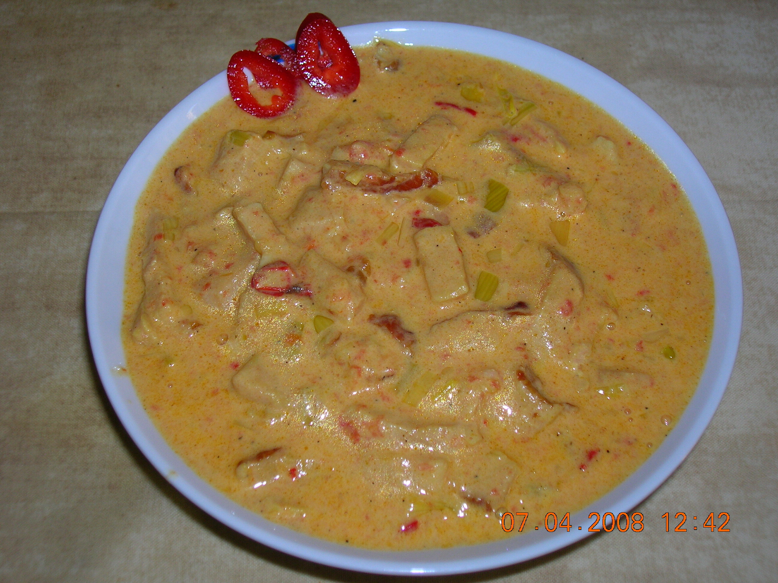 kasslergryta curry creme fraiche