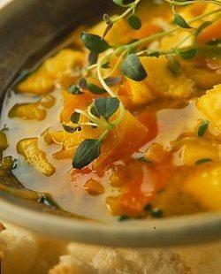 Fisksoppa med apelsin och saffran