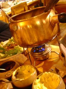 Kött fondue med goda såser
