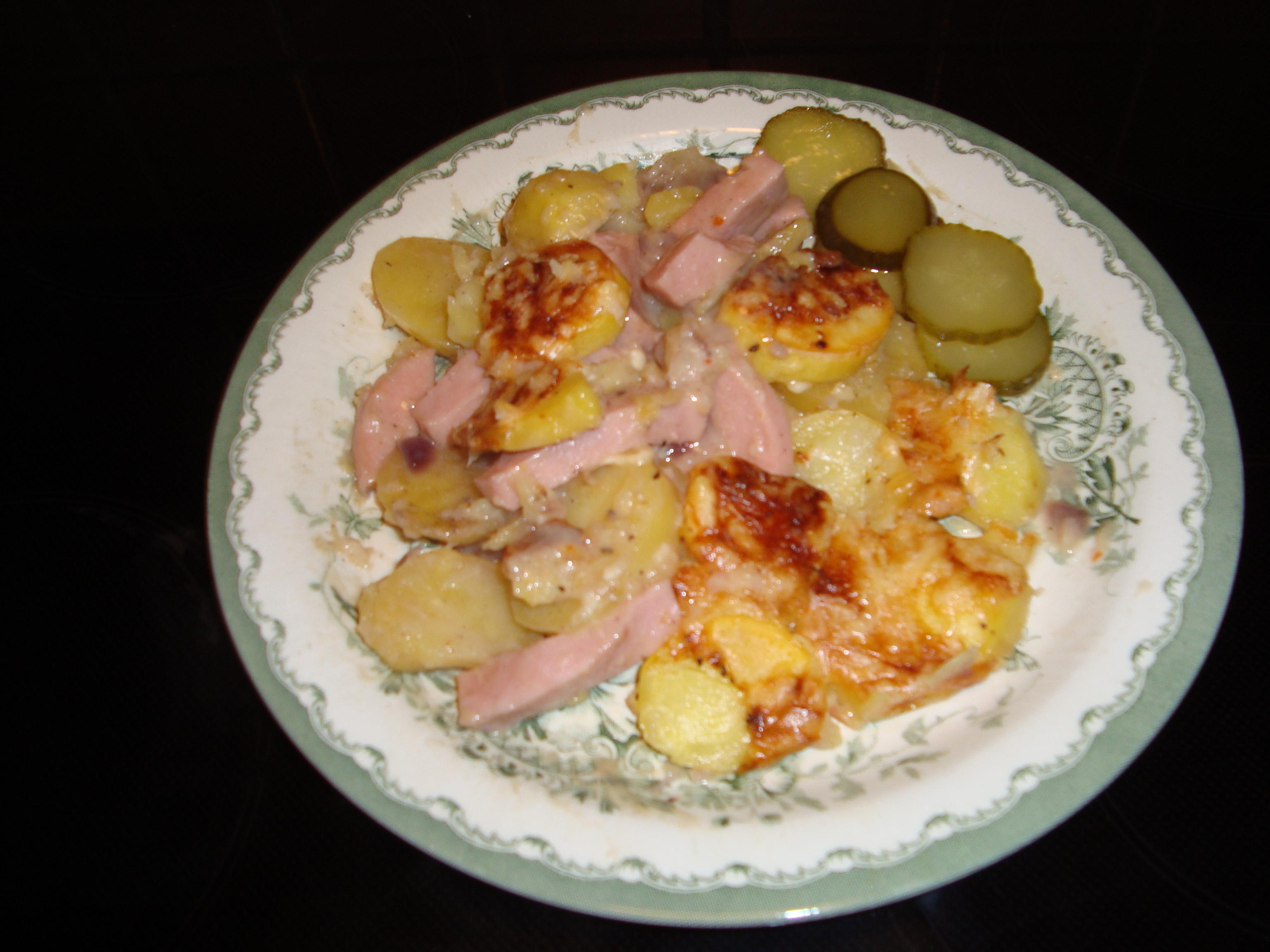 Falukorv och potatisgratäng