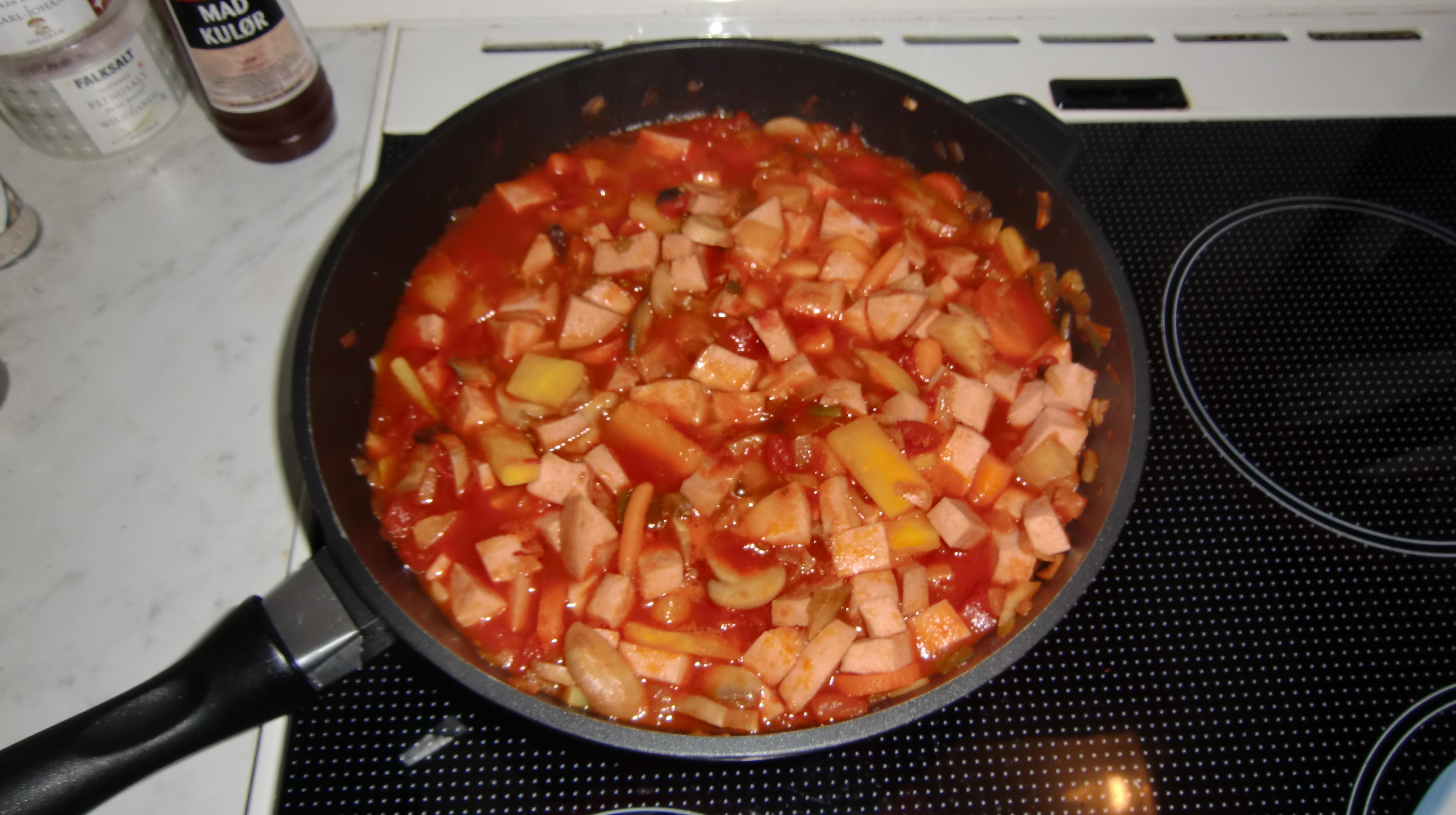 falukorv wok