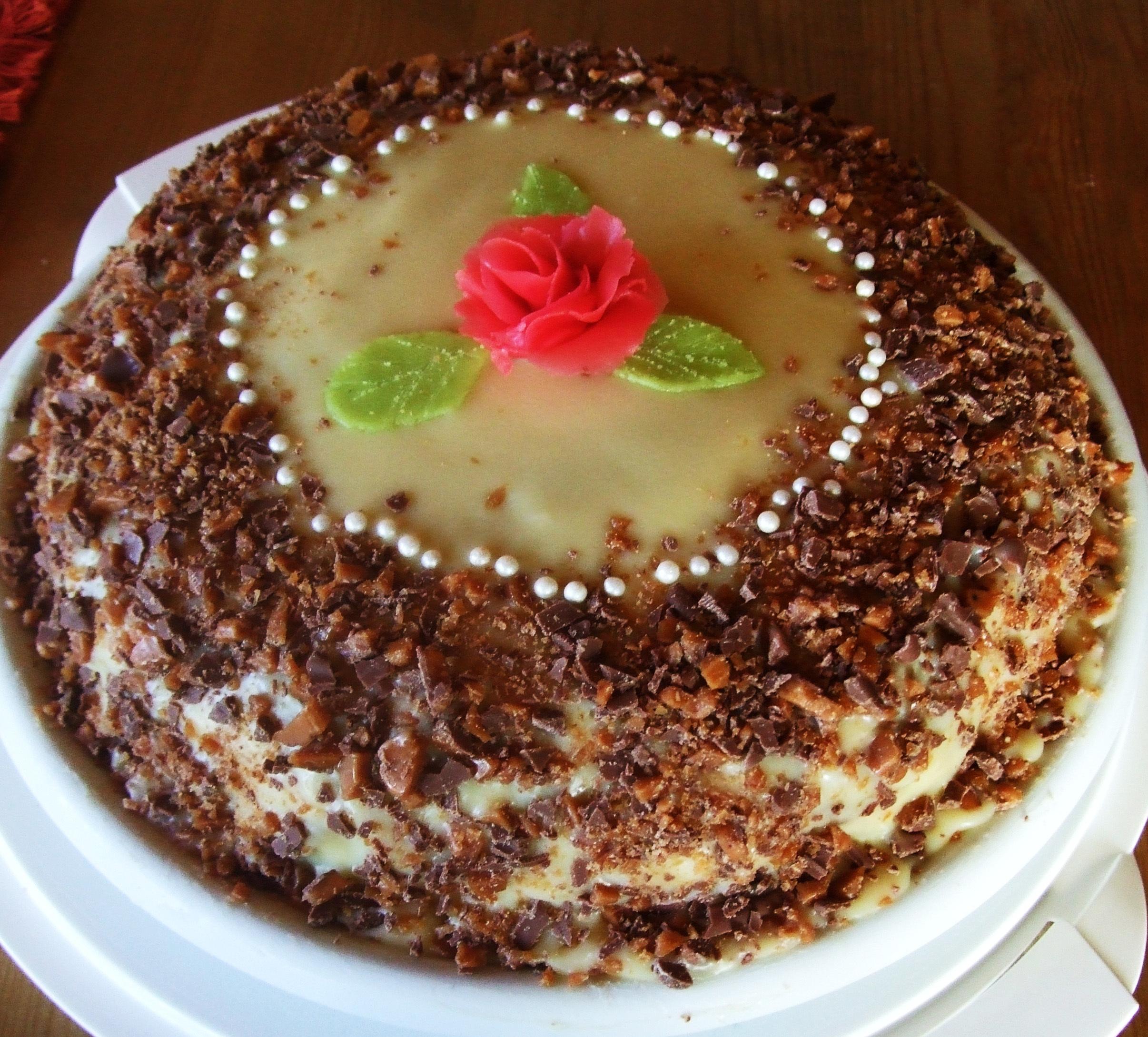 Chokladtårta med vitchoklad