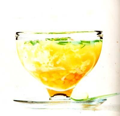 Majs och krabbsoppa