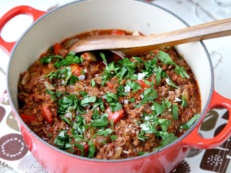 koka bulgur med tomatpure