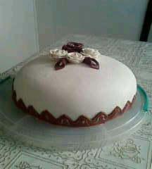 Chokladtårta med sugerpaste