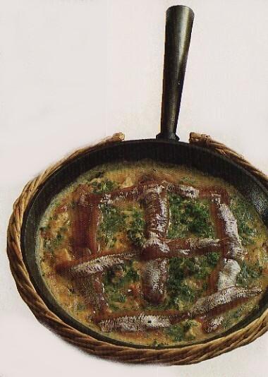 Kryddgrön ansjovisomelett