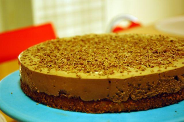 glutenfri chokladmoussetårta