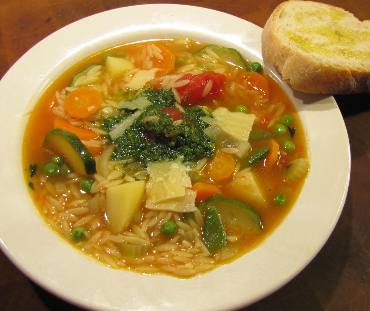 grönsakssoppa med pasta