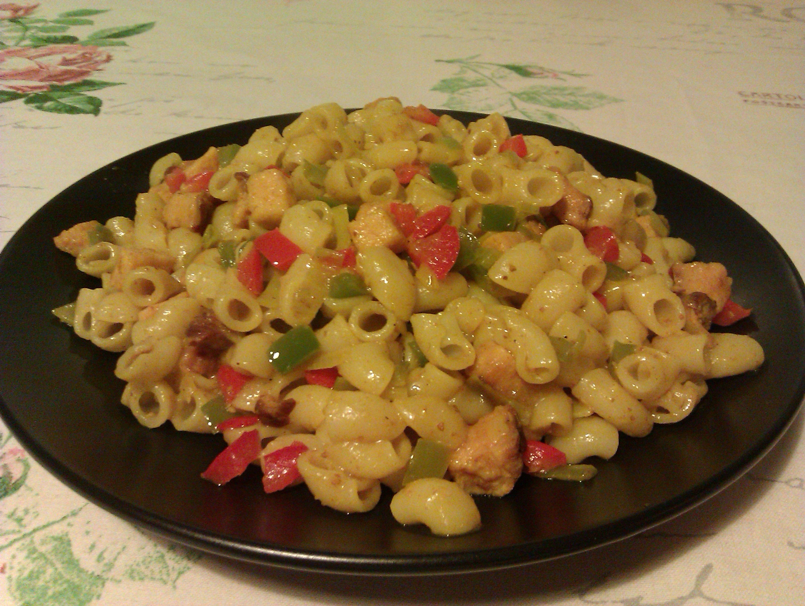 pasta penne kyckling curry