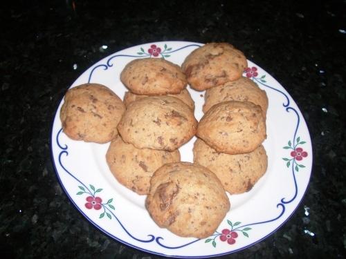 Cookies  med chokladbitar