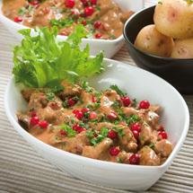 skinkgratäng med kokt potatis