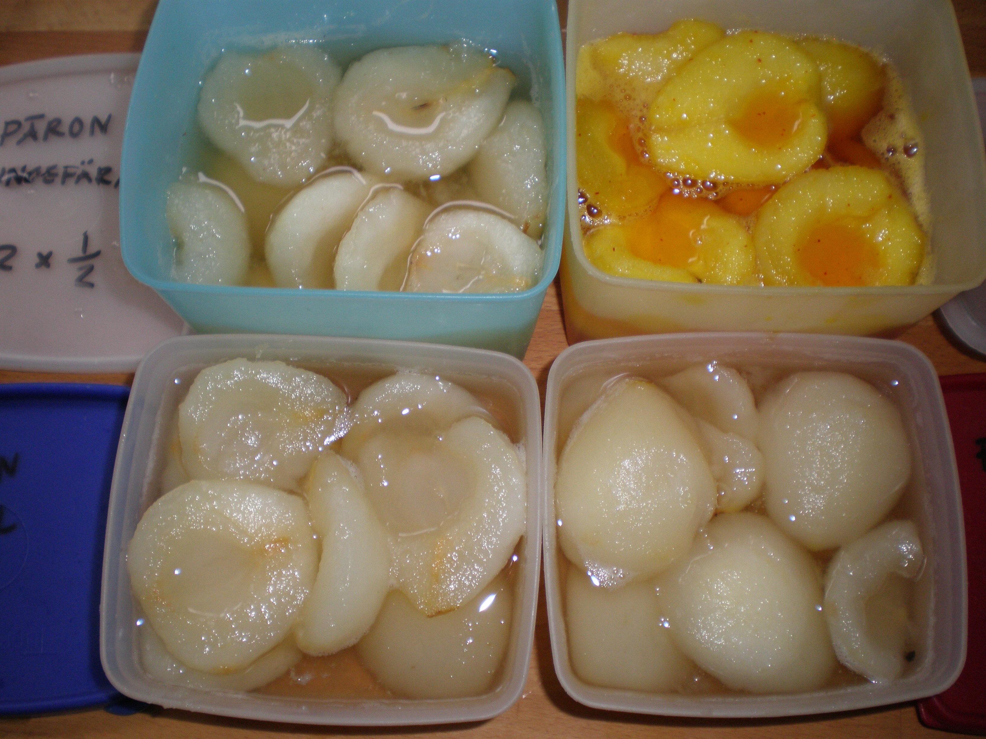 kokta päron i sockerlag
