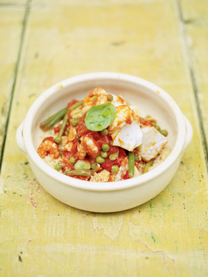 Kryddig marockans fisk med couscous