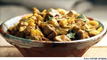 Currygryta på fläskkött