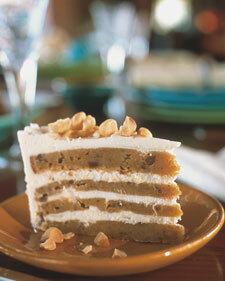 Vit choklad sötpotatis-tårta
