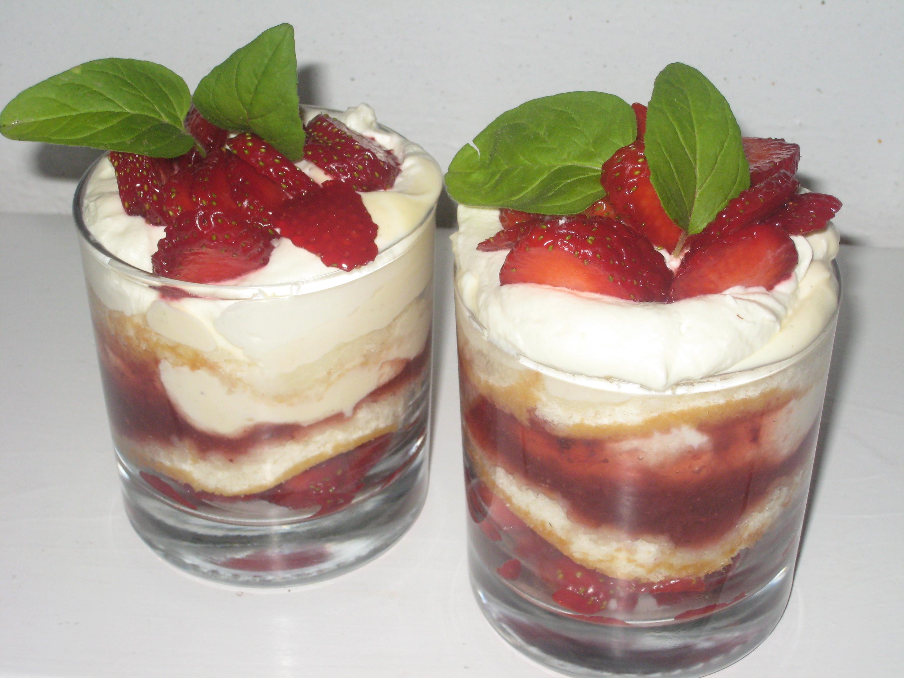 Tårta i glas