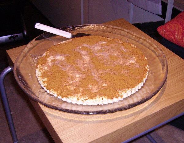 Apelsinglasstårta