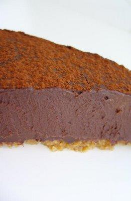 Chokladtryffekaka på krossade kakor
