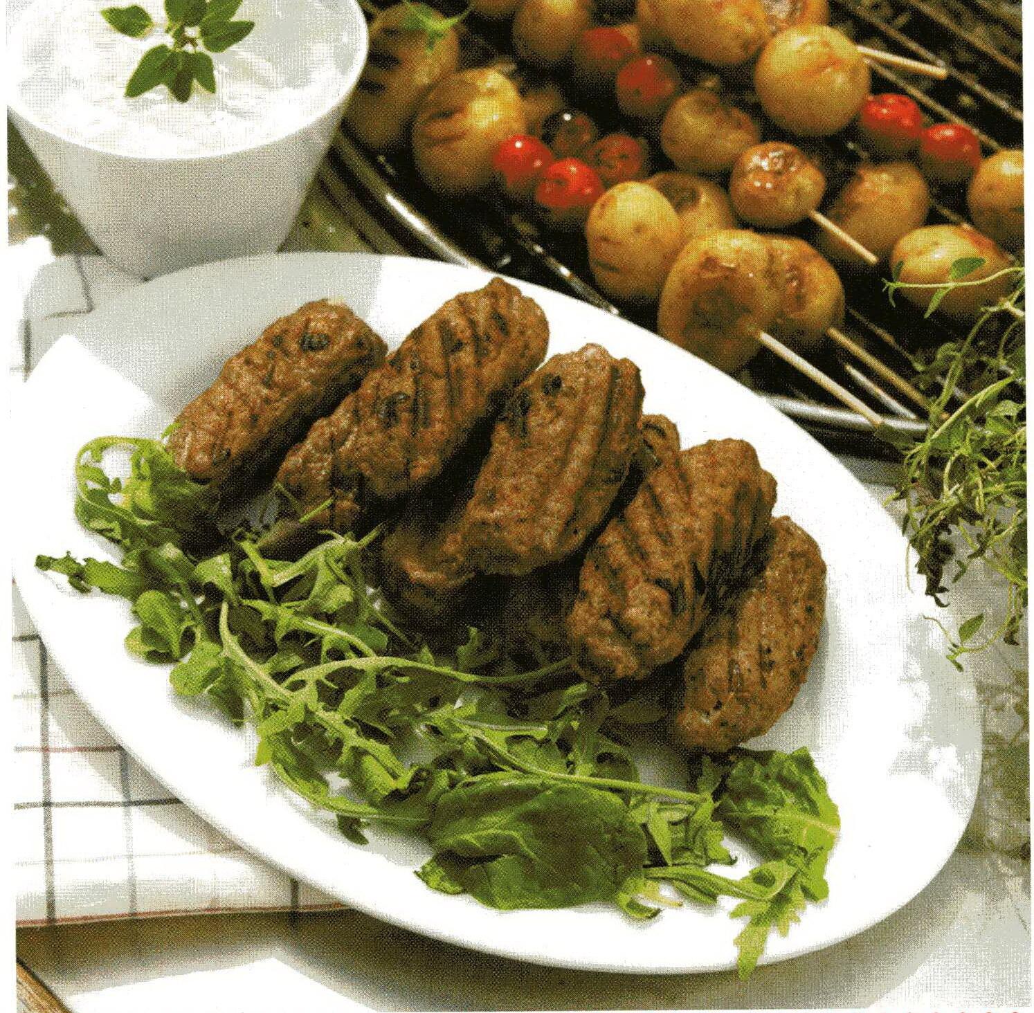 Kebab med ört- ..