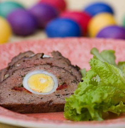 Köttfärslimpa med ägg