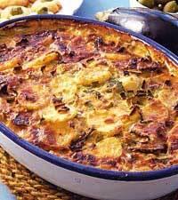 Höstig potatis och kantarellgratäng